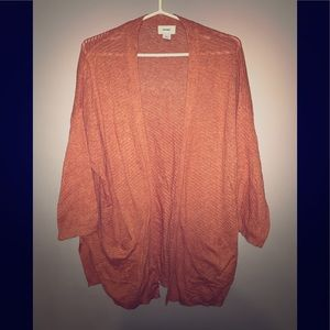 Old navy rust 3/4 sleeve cardigan